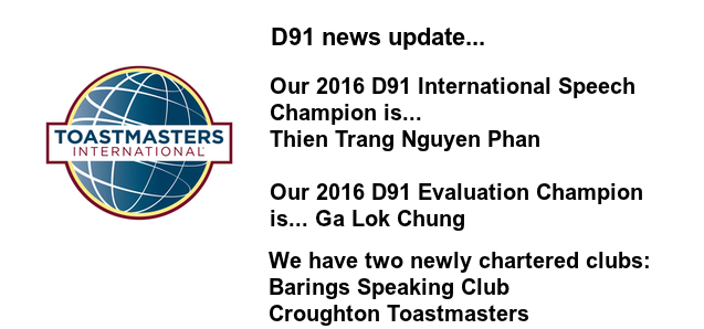 D91 Londinium Spring 2016 Conference