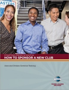 How do I set up a new Toastmasters club? Club Sponsoring