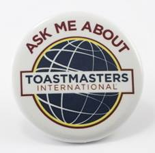 Ask Me About Toastmasters Badge