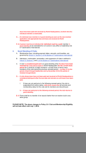 Club and Membership Policy page 2