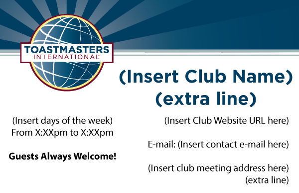 Club Marketing Materials Your Guide On How To Order Toastmasters