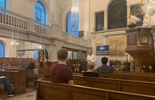 City of London Toastmasters meeting