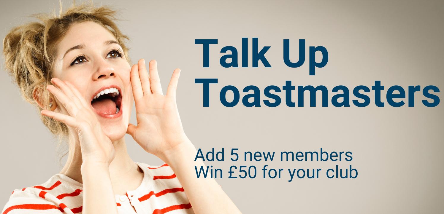 Talk Up Toastmasters Award